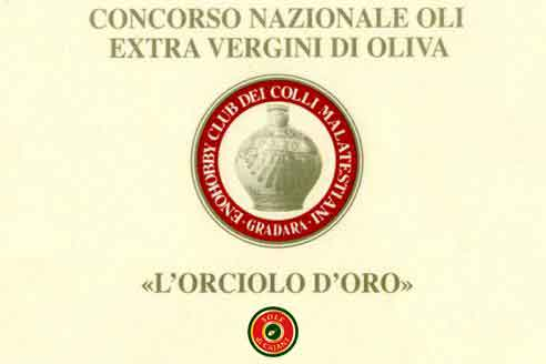 1st place at L'Orciolo D'Oro olive oil competition
