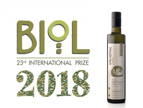 Biol 2018: Silver Award for Kyklopas at the largest organic olive oil competition
