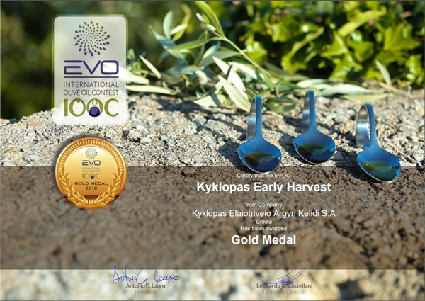Kyklopas honoured with another Gold Award for this year's EVO IOOC 2018 competition