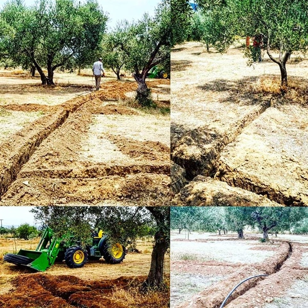 Automated irrigation system at kyklopas olive groves!