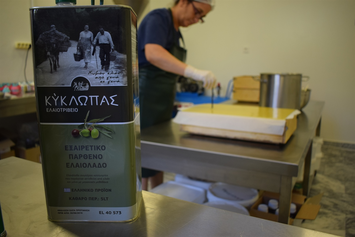 The most amazingly fragrant handmade soaps made with Kyklopas olive oil. (video)