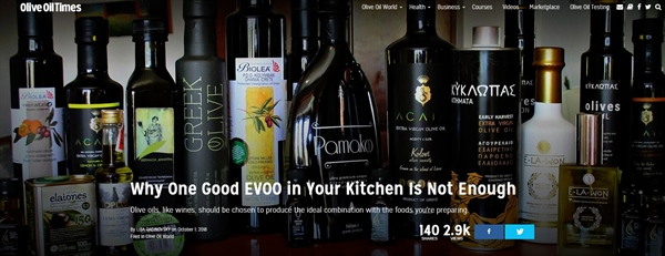 Olive Oil Times: Why One Good EVOO in Your Kitchen Is Not Enough
