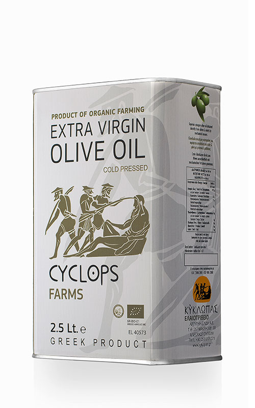 Organic Extra Virgin Olive Oil 2,5lt