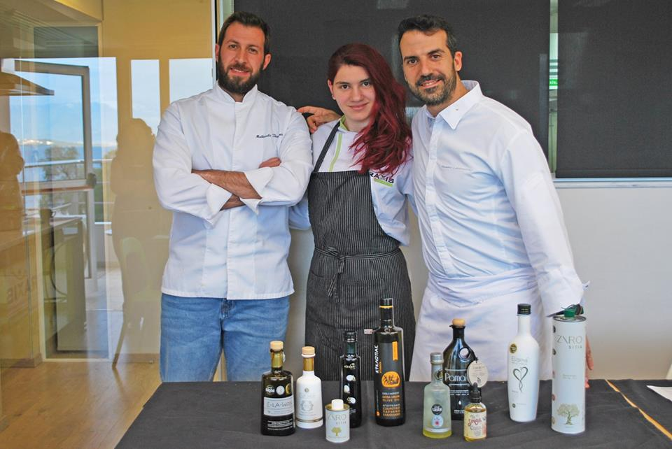 """Cooking Cretan cuisine with olive oil"" with Executive Chef Vasilis K. Leonidou."