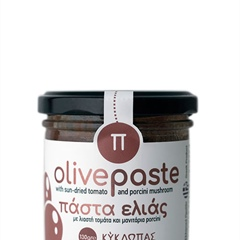 Olive paste with sun-dried tomatoes and porcini mushroom